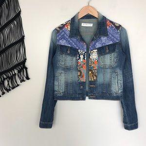 Artisan De Luxe Paisley Patchwork Denim Jacket